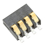 AVX, 9155 Male 4 Way Battery Connector, Right Angle, Surface Mount, 3A