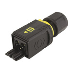 HARTING, HARTING PushPull Power Connector Cable Mount Plug, 3P, Crimp Termination, 16A, 250 V