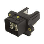 Harting, HARTING PushPull Power Connector Cable Mount Socket, 4P, Crimp Termination, 12A, 48 V