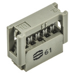 Harting 10-Way IDC Connector Socket for Cable Mount, 2-Row