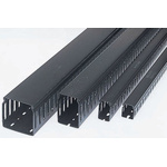 Betaduct Black Slotted Panel Trunking - Closed Slot, W25 mm x D50mm, L1m, Noryl