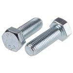 Clear Passivated, Zinc Steel Hex M16 x 45mm Set Screw