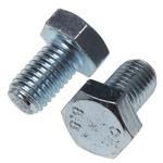 Clear Passivated, Zinc Steel Hex M12 x 20mm Set Screw