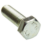 Clear Passivated, Zinc Steel Hex M12 x 40mm Set Screw