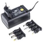 Ansmann, 7.2W Plug In Power Supply 3 V dc, 4.5 V dc, 5 V dc, 6 V dc, 7.5 V dc, 9 V dc, 12 V dc, 600mA, Level V
