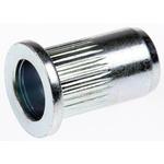 14.8mm Plain M6 Steel Tubular Rivet, 8.9mm diameter, 0.5 → 3 mm Thickness