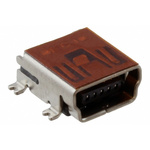 Amphenol ICC USB Connector, SMT, Socket 2.0 B, Surface Mount, Right Angle- Single Port