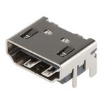 Molex Type A 19 Way Female Right Angle HDMI Connector 40 V dc