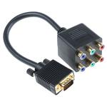 RS PRO AV Adapter, Male VGA to Female Phono
