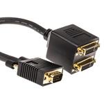 RS PRO AV Adapter, Male VGA to Female DVI-I
