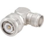 Right Angle 50Ω RF Adapter TNC Plug to TNC Socket 10GHz