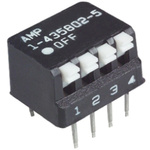 4 Way Through Hole DIP Switch SPST, Piano Actuator