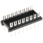 Aries Electronics 2.54mm Pitch 16 Way,Through Hole Mount PCB Header, Tin over Nickel, 2A