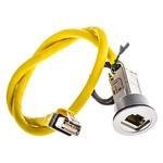 Harting Cat6 RJ45 Plug/RJ45 Socket Coupler, 1 Port, Shielded