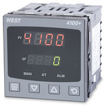 West Instruments P4100+ DIN Rail PID Temperature Controller, 96 x 96mm 1 Input, 3 Output Relay, SSR, 100 → 240 V