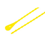 Richco Yellow Cable Tie Polypropylene Releasable, 273.1mm x 2.4 mm