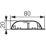Legrand White Skirting Trunking, W80 mm x D20mm, L2m, PVC