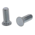 RS PRO Steel Zinc plated & clear Passivated Self Clinching Stud, M3, length-8mm