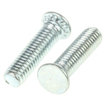 RS PRO Steel Zinc plated & clear Passivated Self Clinching Stud, M3, length-12mm