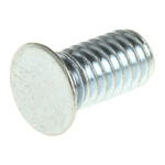 RS PRO Steel Zinc plated & clear Passivated Self Clinching Stud, M4, length-8mm
