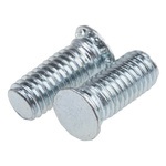 RS PRO Steel Zinc plated & clear Passivated Self Clinching Stud, M4, length-10mm