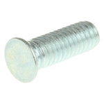 RS PRO Steel Zinc plated & clear Passivated Self Clinching Stud, M4, length-12mm