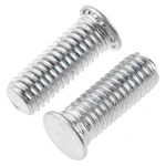 RS PRO Steel Zinc plated & clear Passivated Self Clinching Stud, M5, length-14mm