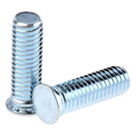 RS PRO Steel Zinc plated & clear Passivated Self Clinching Stud, M5, length-16mm