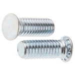 RS PRO Steel Zinc plated & clear Passivated Self Clinching Stud, M6, length-16mm