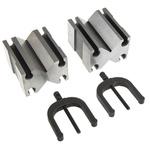 RS PRO Chrome Steel Screw Clamping Prisma en V, 31.1mm Capacity