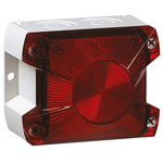 Pfannenberg PY X-S-05 Red Xenon Beacon, 24 V dc, Flashing, Panel Mount