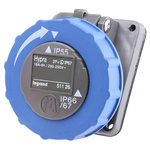 Legrand IP55 Blue Panel Mount 2P+E Industrial Power Socket, Rated At 16.0A, 200 → 250 V