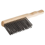 RS PRO Beige, Brown 70mm Steel Wire Brush, For Machinery