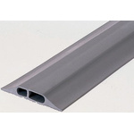 Vulcascot Cable Cover, 25 x 10 & 15 x 10mm (Inside dia.), 40 (Top) mm, 88 (Bottom) mm x 3m, Grey, 2 Channels