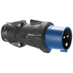 Legrand, HYPRA IP44 Blue Cable Mount 2P+E Industrial Power Plug, Rated At 16.0A, 230.0 V