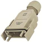HARTING Han-Modular Straight Heavy Duty Power Connector Hood, Cable Mount