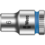 Wera 6mm Hex Socket With 1/4 in Drive , Length 23 mm