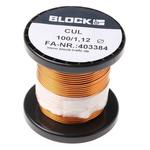 Block Single Core 1.12mm diameter Copper Wire, 9m Long