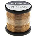 Block Single Core 0.22mm diameter Copper Wire, 429m Long