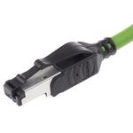 HARTING Green PVC Cat5 Cable U/FTP, 1.5m Male RJ45/Male RJ45