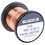 Block Single Core 0.28mm diameter Copper Wire, 175m Long
