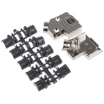 HARTING D-sub Metal Right Angle D-sub Connector Backshell, 9 Way