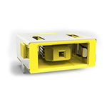 TE Connectivity, DC-IN Right Angle DC Socket Rated At 7.0A, 25.0 V, PCB Mount, length 16.2mm, Gold, Tin