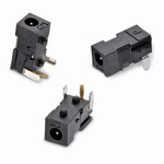Wurth Elektronik, WR-DC Right Angle DC Socket Rated At 2.0A, 12.0 V, Panel Mount, length 5.0mm, Gold, Tin