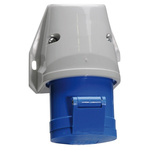 Bals IP44 Blue Wall Mount 2P+E Industrial Power Socket, Rated At 16.0A, 230.0 V