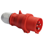Bals IP44 Red Cable Mount 3P+E Industrial Power Plug, Rated At 32.0A, 415.0 V