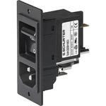 Schurter C14, C18 Panel Mount IEC Connector Socket, 10.0A, 250.0 V