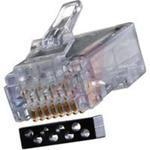 connector,modular plug,rj45(8p8c)offset,cat6,load bar,round unshield cable