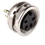 Lumberg 4 Pole Din Socket, DIN EN 60529, 5A, 250 V ac IP68