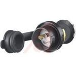Electrical Plug; 20 A; 125 V; Black Valox; White Valox; Steel, Nickel Plated